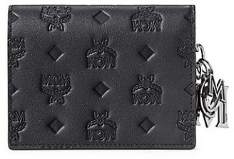 MCM Mini Klara Monogram Leather Wallet-On-Chain