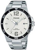 Pulsar Men's 43mm Steel Bracelet & Case Quartz -Tone Dial Analog Watch PS9403