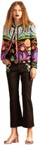 Cynthia Rowley Floral Tweed Fringe Jacket