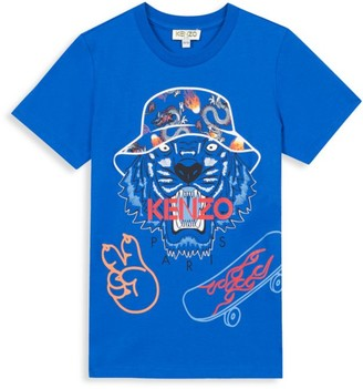 Kenzo Little Boy's & Boy's Tiger Graphic T-Shirt