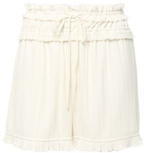 3.1 Phillip Lim Pleated Shirred Crepe De Chine Shorts