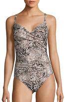 Calvin Klein Twist One-Piece Swimsuit