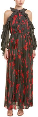 Self-Portrait Accordion Pleat Maxi Dress
