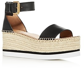 See by Chloe Women's Glyn Ankle-Strap Platform Wedge Sandals