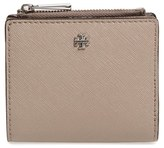 Tory Burch Women's 'Mini Robinson' Leather Wallet - Black