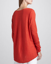 Vince V-Neck Slub Cotton Sweater