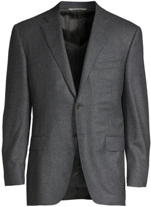 Canali Classic-Fit Textured Wool Jacket