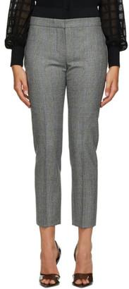 Alexander McQueen Grey Wool Check Cigarette Trousers