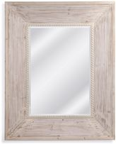 Bassett Mirror Company 50-Inch x 40-Inch Rectangle Darby Wall Mirror in Weathered White