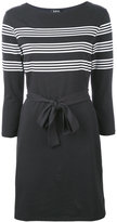 A.P.C. striped print belted dress - women - Cotton - S