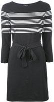 A.P.C. striped print belted dress - women - Cotton - XS