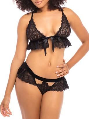 Oh La La Cheri Karlie Flutter Lace Bra & Panty Set