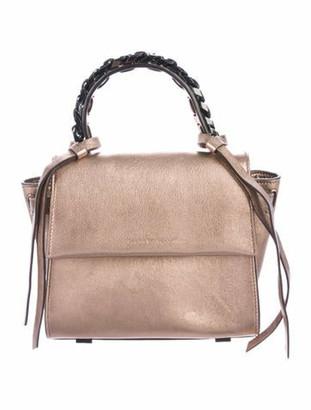 Elena Ghisellini Metallic Leather Crossbody Bag Metallic
