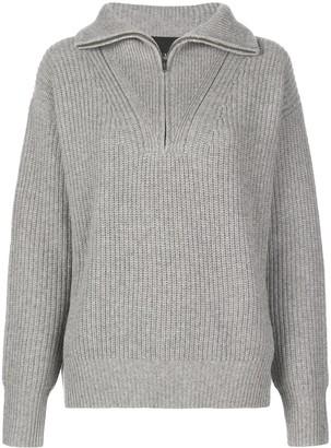 Nili Lotan Hester Zip Collar Sweater
