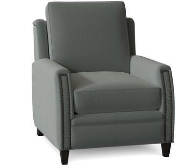 "Thumbnail for your product : Bradington-Young Lockhart 31"" Wide Armchair Body Fabric: Bromance 141564, Leg Color: Cobblestone"