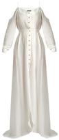 Balmain Cold-shoulder cotton maxi dress
