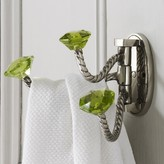 Graham and Green Adjustable Triple Hooks With Green Glass Knobs