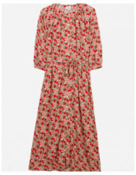 Thumbnail for your product : Margaux Red Floral Print Midi Dress - 12-14
