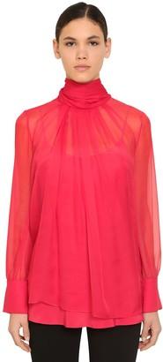 Max Mara Sheer Silk Chiffon Shirt