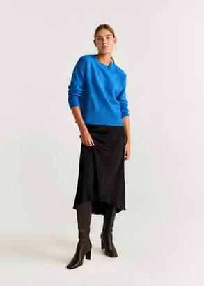 MANGO Chunky-knit sweater blue - XXS - Women