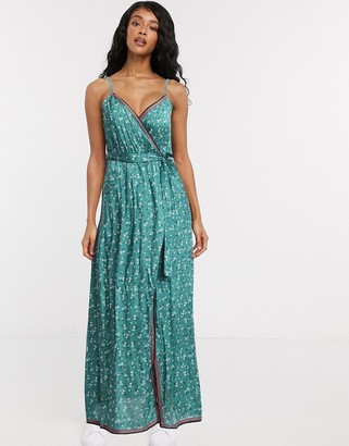 Billabong Soft Sea's beach wrap maxi dress in green