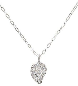 Tamara Comolli 18K White Gold & Diamond Pave Drop Pendant Chain Necklace