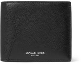Michael Kors Full-grain Leather Billfold Wallet - Black