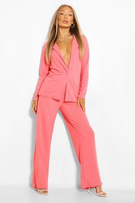 boohoo Oversized Blazer & Wide Leg Pants Suit Set