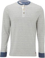 White Stuff Fair Stripe Henley Long Sleeve Tee