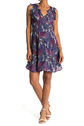 Collective Concepts Ruffled V-Neck Sleeveless Dress