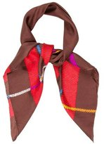 Christian Dior Multicolor Abstract Scarf