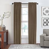 Veratex Contemporary Luxury 100% Cotton Velvet Made in the USA Any Room Rod Pocket Fastener Window Panel, 95-Inch, Pebble