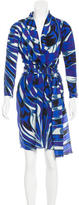 Emilio Pucci Belted Abstract Print Dress