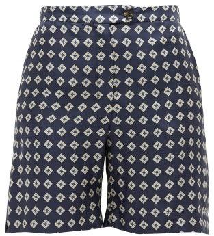 Max Mara S Fuoco Shorts - Womens - Navy Multi