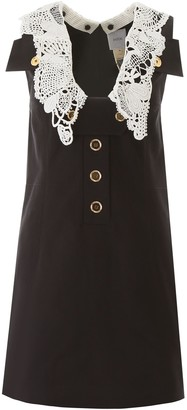 Patou Safari Mini Dress With Crochet