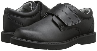 School Issue Scholar HL (Toddler/Little Kid/Big Kid) (Black Leather) Boys Shoes