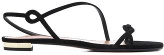 Aquazzura asymmetric slim-strap sandals