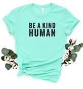 Simply Sage Market Women's Tee Shirts Mint - Mint & Black 'Be a Kind Human' Crewneck Tee - Women