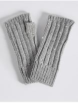 M&S Collection Diamanté Cable Knit Gloves