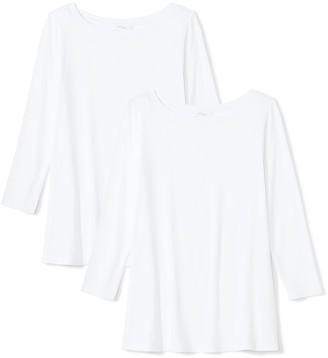 Daily Ritual Women's Jersey 3/4-Sleeve Bateau-Neck Swing T-Shirt