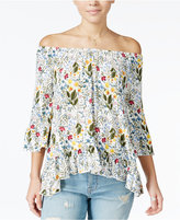 One Hart Juniors' Ruffled Off-The-Shoulder Top, Only at Macy's