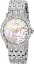 Burgi Women's BUR081SS Analog Display Swiss Quartz Silver Watch