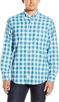 Izod Men's Long Sleeve Newport Oxford Large Plaid Shirt