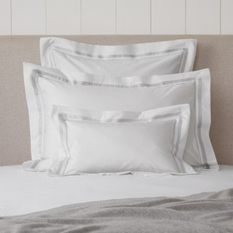 The White Company Cavendish Breakfast Oxford Pillowcase, White Silver, Rectangle