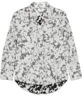 Jil Sander Floral-print Cotton-poplin Shirt - Gray