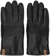 Mackage Black Lambskin Gunner Gloves