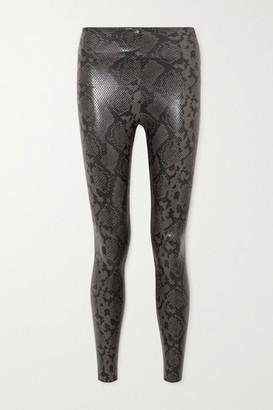 Commando Snake-effect Faux Leather Leggings - Snake print