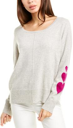 Raffi Heart Sleeve Cashmere Sweater
