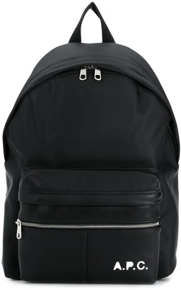 A.P.C. Camden logo-print backpack