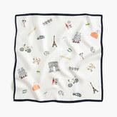 """J.Crew Italian silk square scarf in """"Paris"""" print"""
